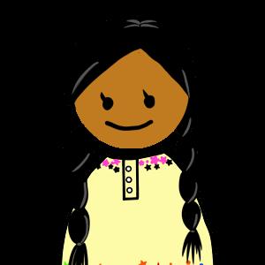 アイコン:ラテンの女の子