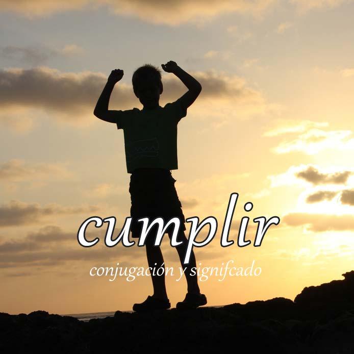 スペイン語の動詞 cumplir「果たす、遂行する、満~歳になる」の活用と意味【例文あり】
