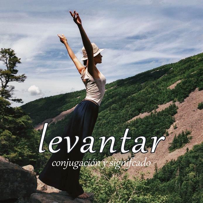 スペイン語の動詞 levantar「起こす、上げる」の活用と意味【例文あり】