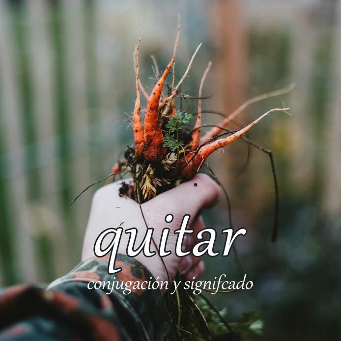 スペイン語の動詞 quitar「取り除く、奪う」の活用と意味【例文あり】
