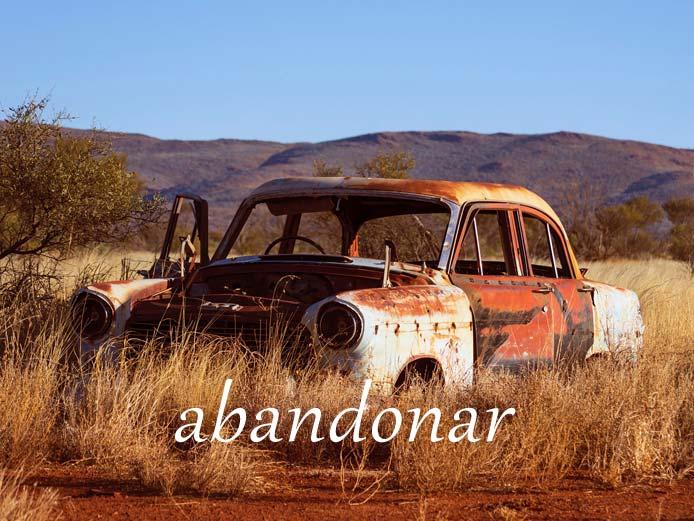 スペイン語の動詞 abandonar「捨てる、離れる」の活用と意味【例文あり】