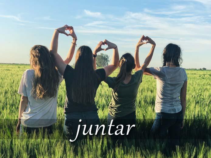 スペイン語の動詞 juntar「合わせる、集める」の活用と意味【例文あり】