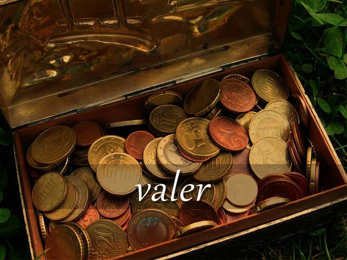 スペイン語の動詞 valer「価値がある、役立つ、~に相当する」の活用と意味【例文あり】