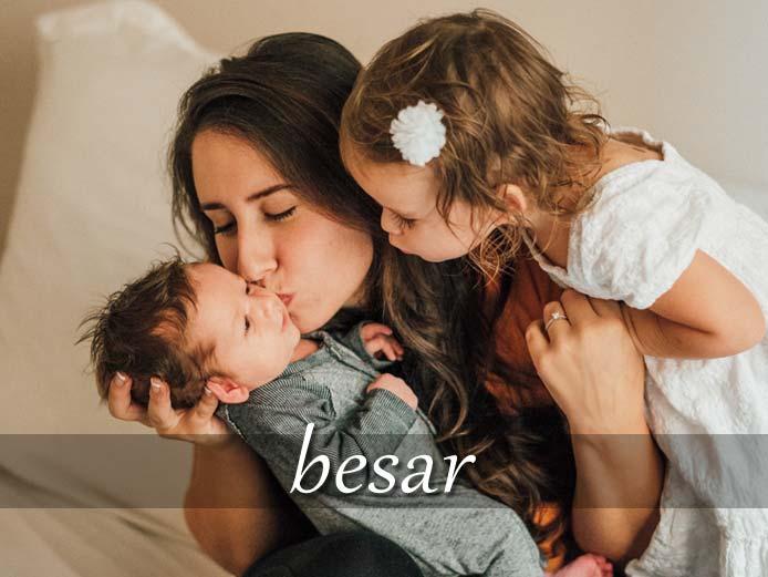 スペイン語の動詞 besar「キスする」の活用と意味【例文あり】