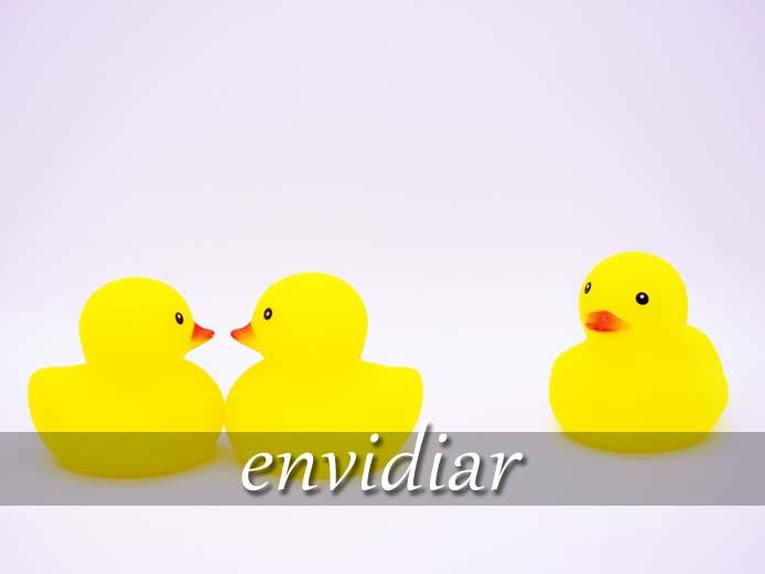 スペイン語の動詞 envidiar「うらやむ、ねたむ」の活用と意味【例文あり】