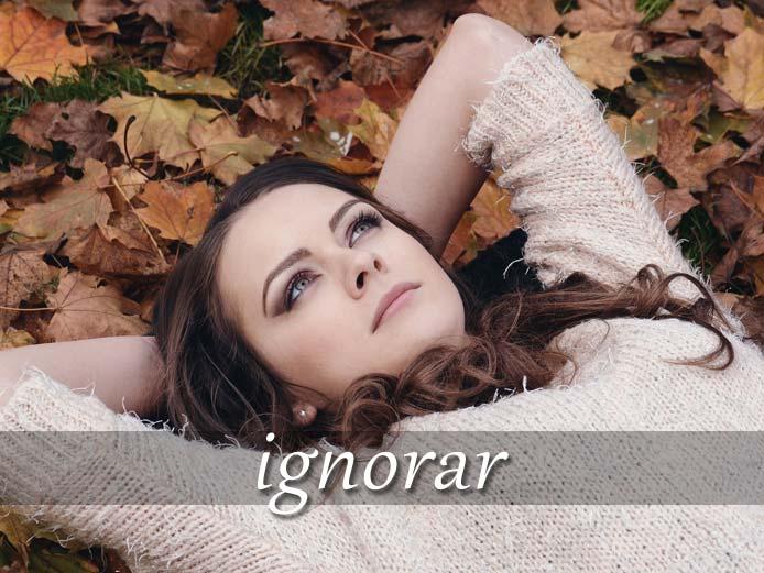 スペイン語の動詞 ignorar「知らない、無視する」の活用と意味【例文あり】