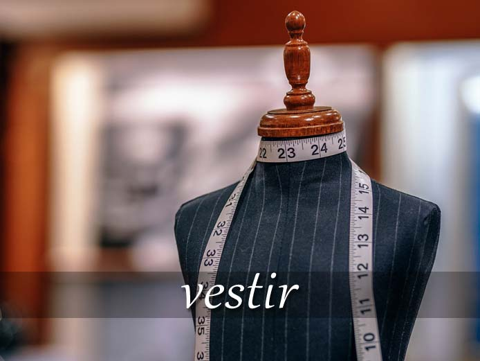 スペイン語の動詞 vestir「服を着せる、着る」の活用と意味【例文あり】