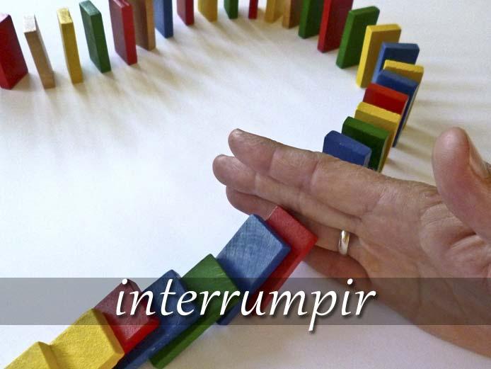スペイン語の動詞 interrumpir「中断する、話を遮る」の活用と意味【例文あり】