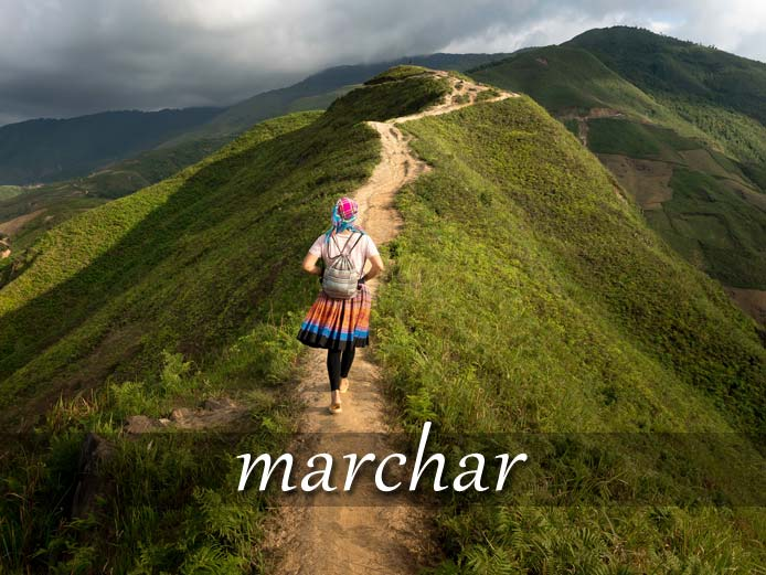 スペイン語の動詞 marchar「行く、進展する」の活用と意味【例文あり】