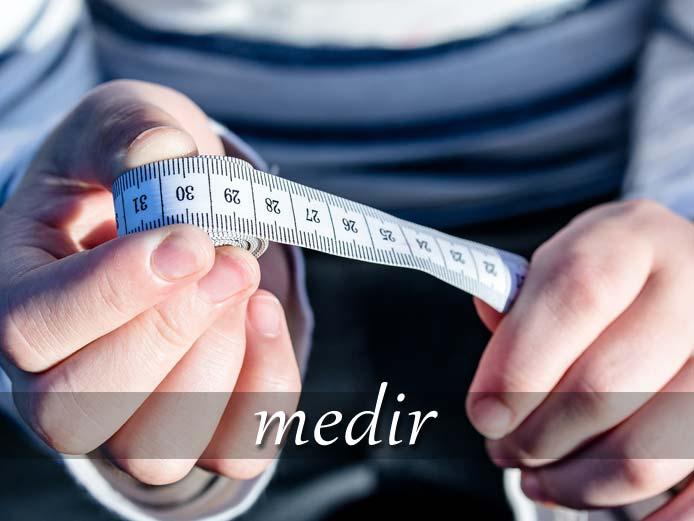 スペイン語の動詞 medir「測る、測定する」の活用と意味【例文あり】