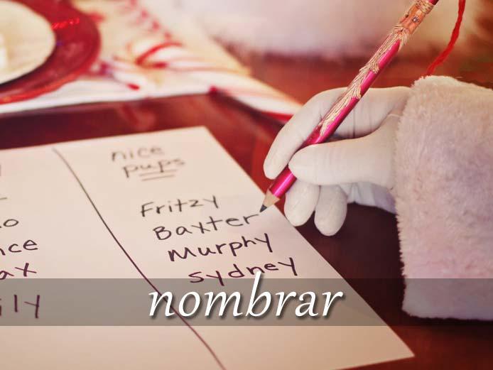 スペイン語の動詞 nombrar「指名(任命)する、~の名を言う」の活用と意味【例文あり】