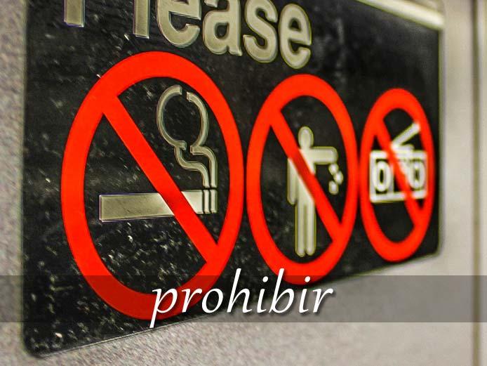 スペイン語の動詞 prohibir「禁止する」の活用と意味【例文あり】