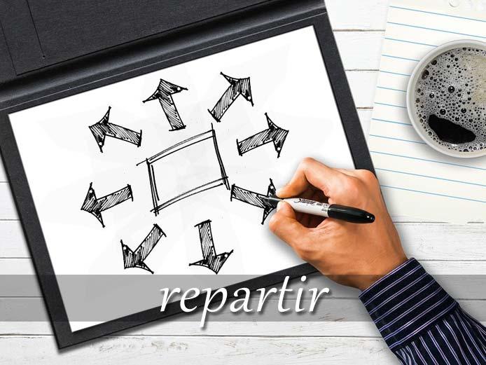 スペイン語の動詞 repartir「分配する、配達する」の活用と意味【例文あり】