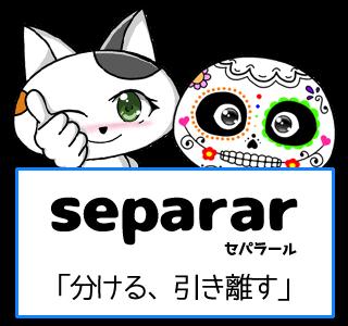 スペイン語の動詞 separar「分ける、引き離す」の活用と意味【例文あり】