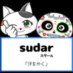 スペイン語の動詞 sudar「汗をかく」の活用と意味【例文あり】