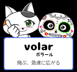 スペイン語の動詞 volar「飛ぶ、急速に広がる」の活用と意味【例文あり】